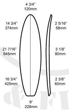 """6'4""""B SHORTBOARD BLANK"""