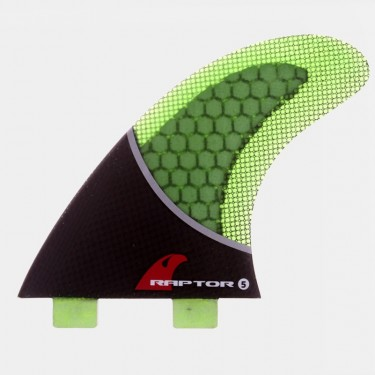 R5 Carbon Fin Set - Green
